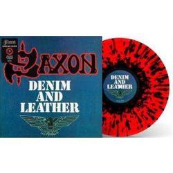 SAXON - Denim And Leather / színes vinyl bakelit / LP